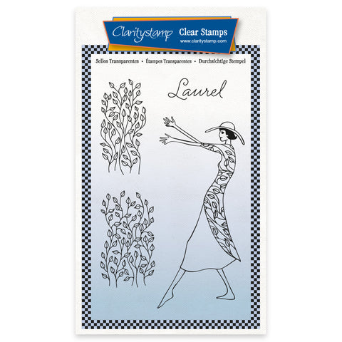 Barbara's Clarity Characters - Laurel A6 Unmounted Stamp & Mask Set