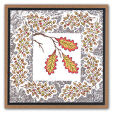 Oak Leaves 4 + Stencil <br/>Unmounted Clear Stamp Set