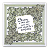 Leaves 1 + 4 x 4 Inch Stencil <br/>Unmounted Clear Stamp Set