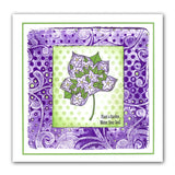 Leaves 2 + 4 x 4 Inch Stencil <br/>Unmounted Clear Stamp Set