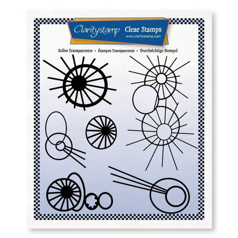 Leonie's Altered Bursts <br/>Unmounted Clear Stamp Set