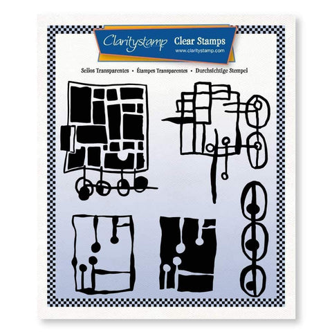 Leonie's Altered Squares <br/>Unmounted Clear Stamp Set
