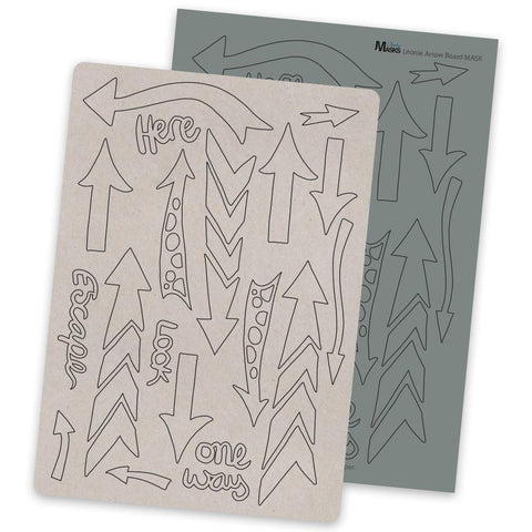Leonie's Arty Arrows + MASK <br/>Clarity Mix Media Board