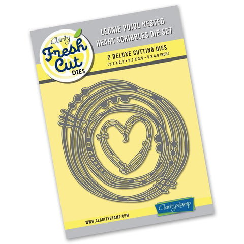 Leonie Pujol Nested Heart Scribbles Die Set <br/>Clarity Fresh Cut Dies