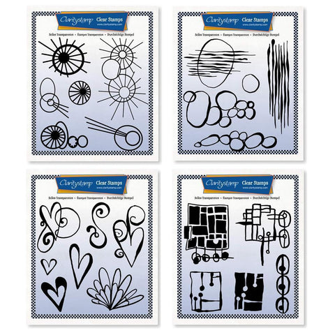 Leonie's Altered Shapes Collection <br/>Unmounted Clear Stamp Sets