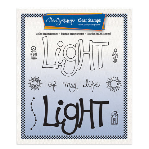 Light - Feel Good Words 2 Way A5 Square Stamp & Mask Set