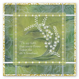 Lily of the Valley A5 Square Groovi Plate (Set GRO-FL-40935-03)