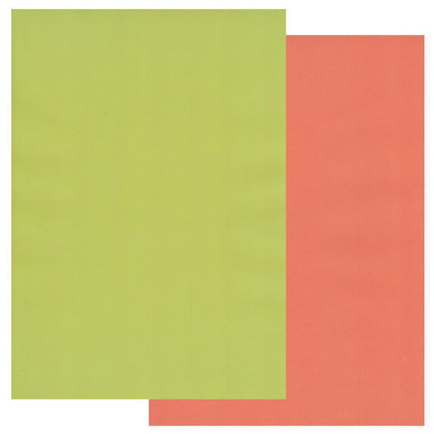 Lime Twist & Orange Squash x10 Groovi Two Tone Parchment Paper A4