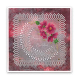 Linda's Flowers & Lace Collection <br/>A5 Square Groovi Plate Set