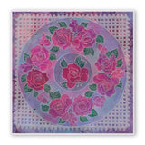 Linda's Flowers & Lace Quartet A5 Square Groovi Plate Set