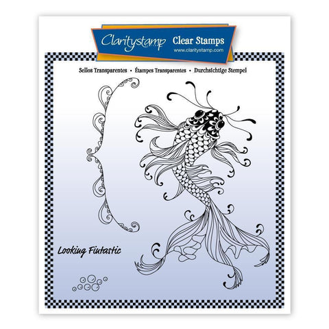 Cherry's Under the Sea - Koi Carp Unmounted Clear Stamp Set