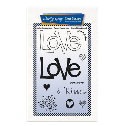 Love - Feel Good Words 2 Way A6 Stamp & Mask Set