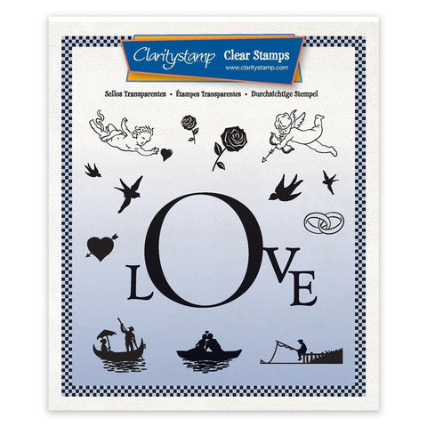 Love Framer Unmounted Stamp Set + Mask