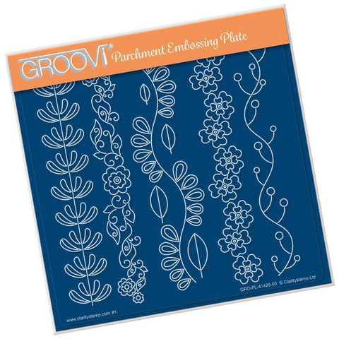 Lucy's Folkart Garlands <br/>A5 Square Groovi Plate