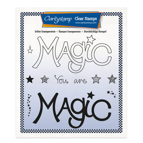 Magic - Feel Good Words 2 Way A5 Square Stamp & Mask Set
