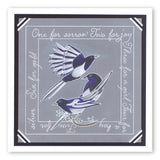 Magpies A6 Square Groovi Baby Plate Set