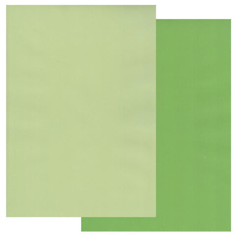 Meadow Green & Willow Green x10 Groovi Two Tone Parchment Paper A4