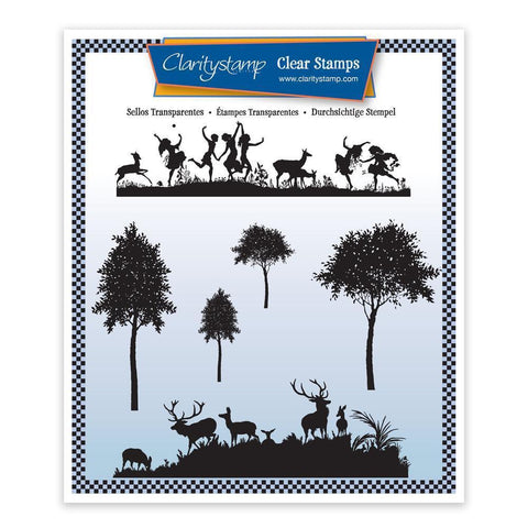 Meadow Dance & Deerscape Unmounted Clear Stamp Set