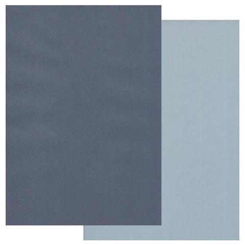 Midnight Blue & Sky Blue x10 <br/>Groovi Two Tone Parchment Paper A4