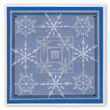 Moonfairy & Funky Snowflakes <br/> A5 Square Groovi Plates (Set of 2)