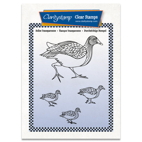 Moorhens A6 Stamp & Mask Set