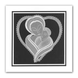 Mother and Child & Nested Hearts <br/>A5 Square Groovi Plate Set