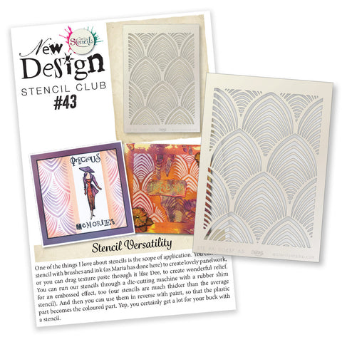 New Design Stencil Club Back Issue - 43