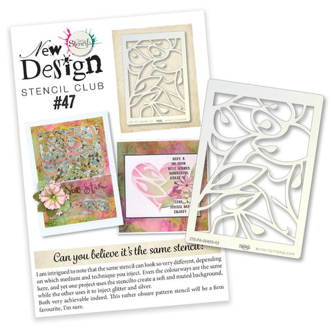New Design Stencil Club Back Issue - 47