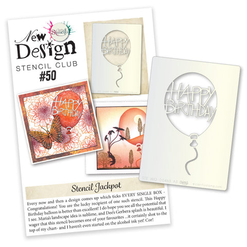 New Design Stencil Club Back Issue - 50
