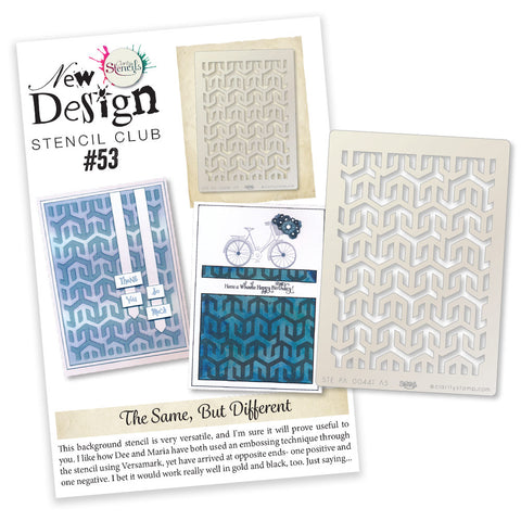 New Design Stencil Club Back Issue - 53