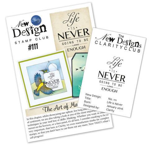 New Design Stamp Club Back Issue 111 - Life is never