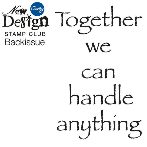 New Design Stamp Club Back Issue 53 - Together Verse