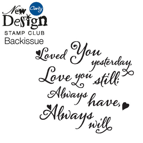 New Design Stamp Club Back Issue 69 - Love You