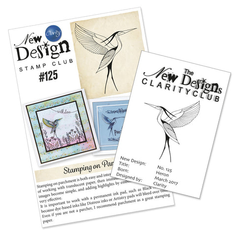New Design Stamp Back Issue 125 - Heron