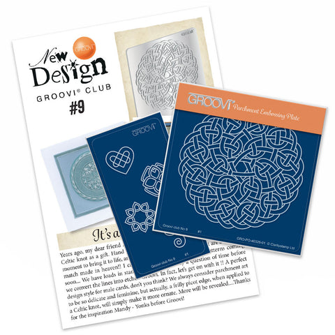 New Design Groovi® Club Back Issue 9 - Celtic Knot