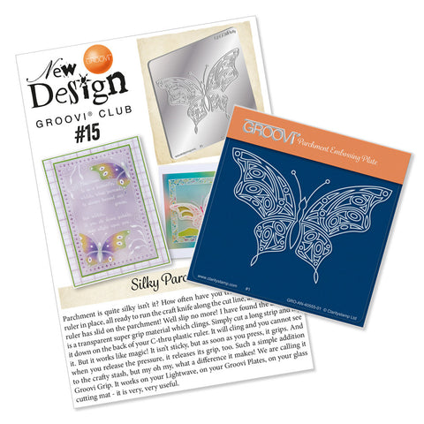 New Design Groovi® Club 15 Back Issue - Geo Butterfly