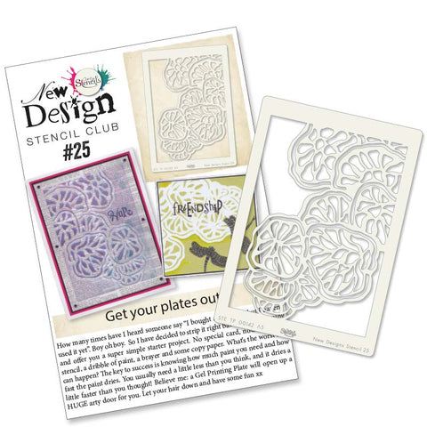 New Design Stencil Club Back Issue -25 - Fungi