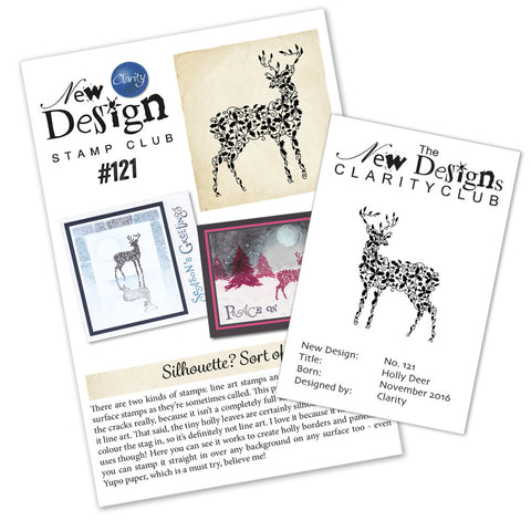 New Design Stamp Club Back Issue 121 - Holly Deer