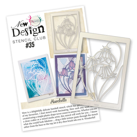 New Design Stencil Club Back Issue 35 - Harebells