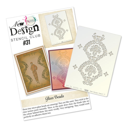 New Design Stencil Back Issue 31 - Damask Pattern