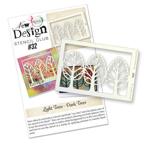 New Design Stencil Back Issue 32 - Funky Trees