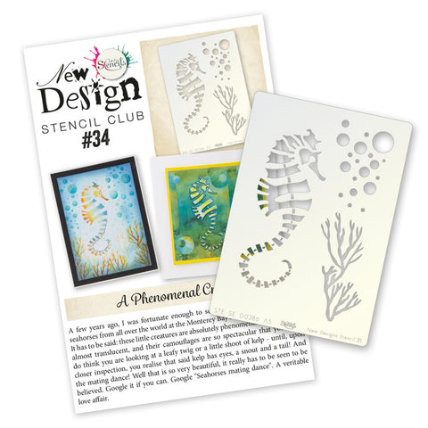 New Design Stencil Club Back Issue -34- Seahorse