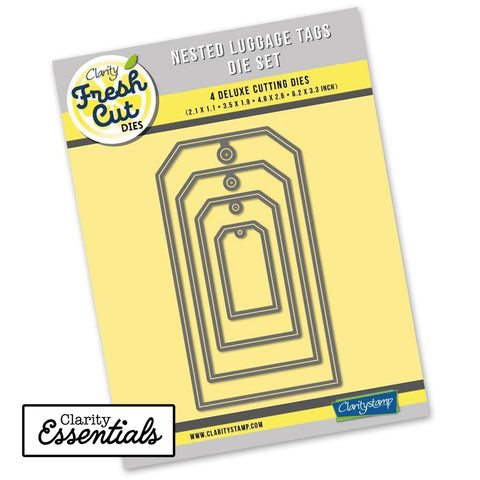 Nested Luggage Tags Die Set <br/>Clarity Fresh Cut Dies