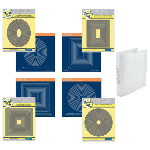 Picot Cut Die Sets & Groovi Plates Collection & A4 Folder