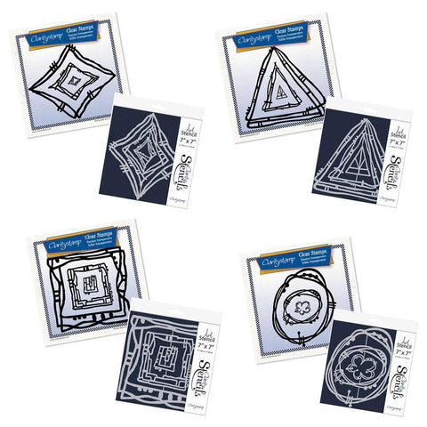 Leonie's Nested Scribbles Stamp & Stencil Collection
