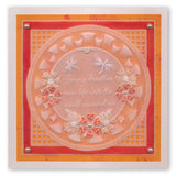 Nested Circles & Frilly Frames <br/>A4 Square Groovi Plate