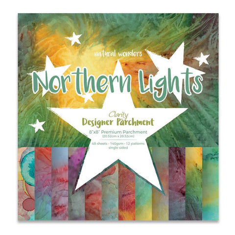 "Northern Lights Designer Parchment Pack 8"" x 8"""