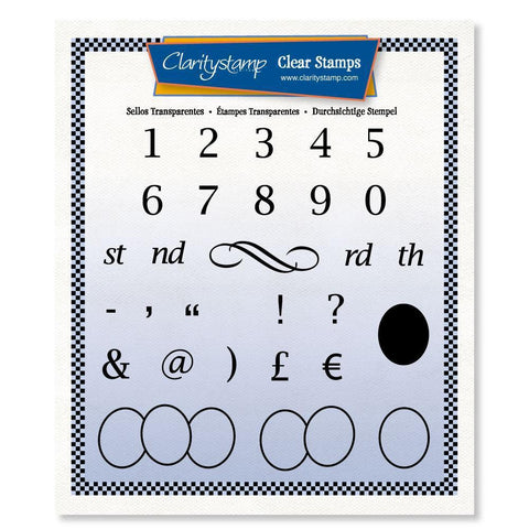 Numbers + MASK Unmounted Clear Stamp Set