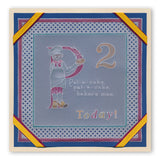 Nursery Rhyme Alphabet <br/>A6 Square Groovi Baby Plate Set <br/+ Rhyme-Time ii Book & Groovi Baby Folder