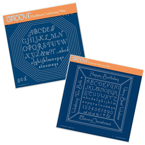 Octagon Extension & Alphabet Frame Collection <br/>A4 Square Groovi Plates